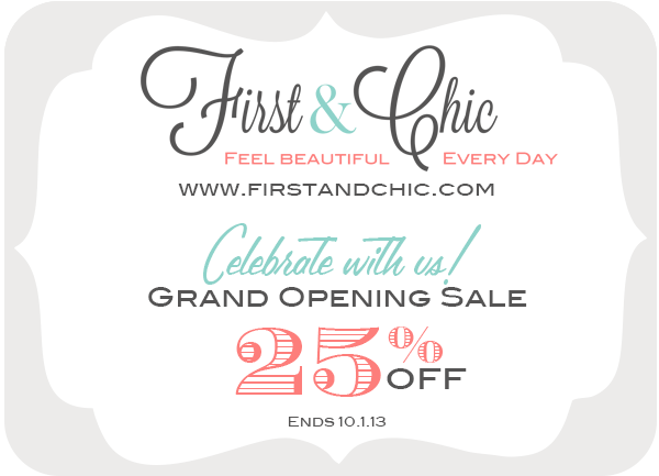 First & Chic 25% off sale