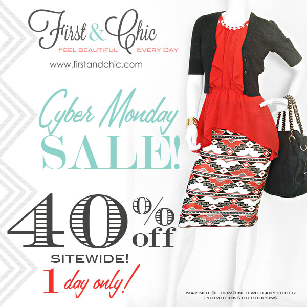 First & Chic Cyber Monday 40% off Sale - Online Women's Boutique