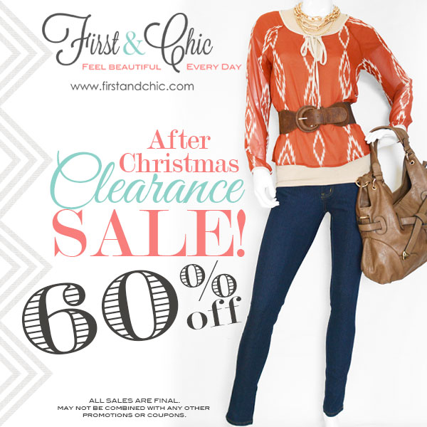 First & Chic Clearance Sale - 60% off