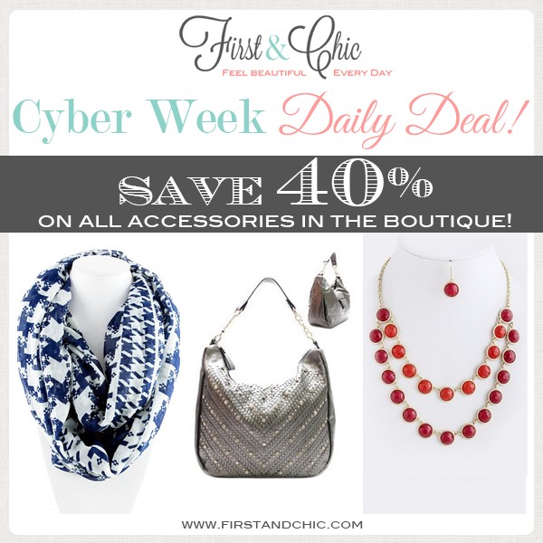 Cyber Week Daily Deal #4 from First & Chic - online modern boutique for women