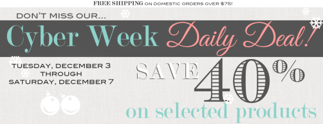 Cyber Week Daily Deals from First and Chic Boutique - online modern boutique for women